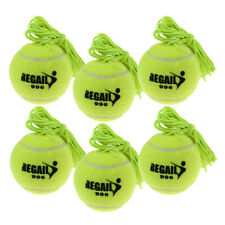 6x Tennis Ball With String Trainer Training Replacement Rubber Felt Tennis Ball