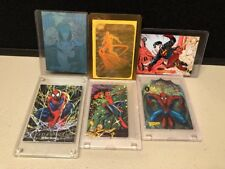 Lot of six 1990s Spiderman Wolverine Collector Cards Foil Hologram