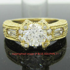 Cubic Zirconia Cluster Yellow Fine Rings