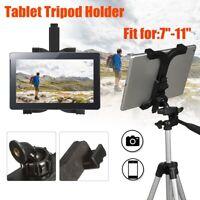 Universal Adjustable Tripod Stand Mount Holder Clip Selfie Stick For iPad Tablet