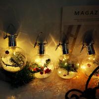 Merry Christmas Ball Led Bulb Christmas Decoration Tree Hanging Clear Ball Light