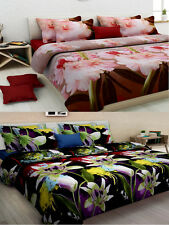 Homefab India Combo of 2 3D Double Bed Sheet (Combo814)