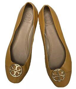 Tory Burch  DESIGNER  Yellow Minnie Perfect Leather Ballerinas