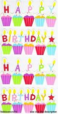 EK SUCCESS STICKO STICKERS - PARTY CELEBRATE CUPCAKES CAKES - HAPPY BIRTHDAY