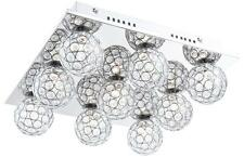 Plafoniera quadrati cromo cristallo acrilico SFERE LUCE LAMPADA