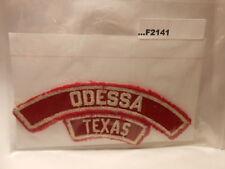 ODESSA TEXAS RED & WHITE CITY STRIP F2141