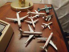 Lot 8 Military & commercial Diecast Metal Planes Boeing 747, 767, Douglas DC10
