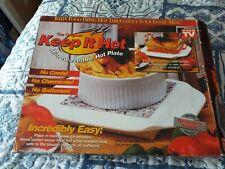 "The Original"" Keep It Hot"" Microwaveable Heat Plate Real Granite Core"