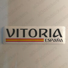 "Vitoria Spain Sticker 4.70x1.18"" Domed Resin 3D Flag Stickers Decal Vinyl"