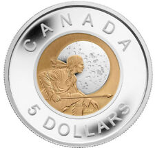 CANADA $5 2011 PF Silver/Niobium - Full Hunter's Moon
