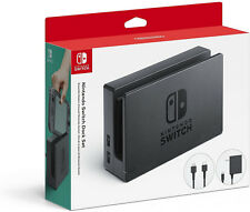 Genuine Nintendo Switch Dock Set (HDMI + AC Power Cable) Black (HACACASAA) - VG