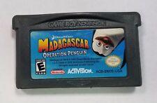 Madagascar Operation Penguin Nintendo Game Boy Advance 2005 Dream Works AGB-BM7E