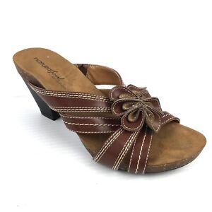 """NATURAL SOUL by Naturalizer """"Eily"""" Brown Cork Slip On Sandal Size 7 Med"""