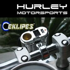 EKLIPES Chrome Cobra Motorcycle Charging System - Cigarette USB 12v - (EK1-110)