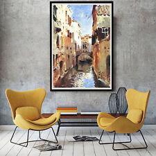 Impressionis Venice Oil Paint Silk Canvas Poster Art Wall Decor A425 No Frame