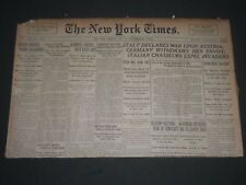 1915 MAY 24 NEW YORK TIMES NEWSPAPER - EDISON INVENTS PHONE RECORDER - NP 2703