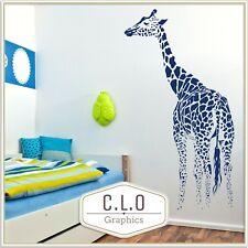 6ft Giraffe Wall Sticker Giant African Vinyl Transfer Big Animal Art Decor Decal