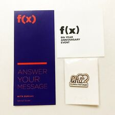 SMTOWN F(X) 8th Year Anniversary Special Promotional Pin + Message & Event Card