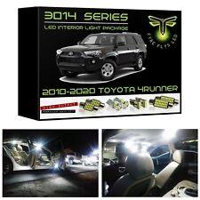 White LED interior lights package kit for 2010-2020 Toyota 4Runner 3014 SMD+Tool