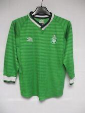 Maillot A.S SAINT-ETIENNE vert vintage UMBRO manches longues 8 10 ans shirt