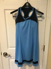 Patagonia Women's Tennis Athletic Tank Dress Racer Back With Bra XS Blue EUC