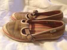 Brown Hemp Simple Eco Sneaks Comfort Mary Jane Shoes Size 7