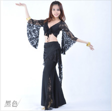 Lace Tribal Long Pants Belly Dance Costumes Dancewear Yoga Practice Trousers