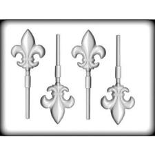 Fleur De Lis Lollipop Hard Candy Mold from CK Products #5231 - NEW