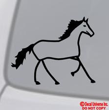 Stick Figure HORSE Vinyl Decal Sticker Car Window Wall Bumper Family Pet Animal