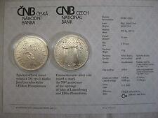 La república checa 2010 200 coronas plata coin St bu-boda con Johann de Luxemburgo