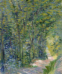 Vincent van Gogh Forest trail canvas print giclee 8X12&12X17 art reproduction