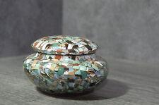 Nice Gerbino French ceramic POTTERY era 40's design trinket box jewel