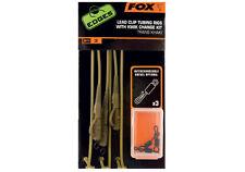 "Fox Carp Fishing Ready Made Khaki Tubing & Lead Clip Rigs - ""The Edges"" Range"