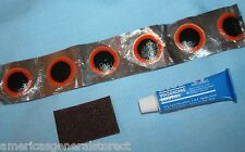 BICYCLE TIRE PATCH KIT repair bike cycling INCLUDES: 6 patches, glue, sandpaper