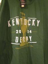 2014 KENTUCKY DERBY 140 OFFICIAL LOGO TEE SHIRTS-LARGE DARK GREEN