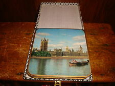 Vintage Win-El-Ware Coasters Placemats London Sights Set of 6 Original Case