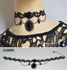 Gothic Lace Vintage Choker Victorian Burlesque Collar Retro Necklace UK Seller