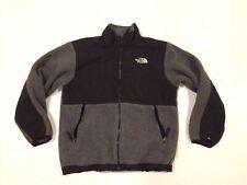 The North Face Boys Girls Denali Nylon/Polartec Fleece Jacket Gray/Black Sz L
