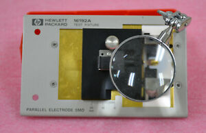 Agilent Keysight 16192A Parallel Electrode SMD Test Fixture for LCR Meters