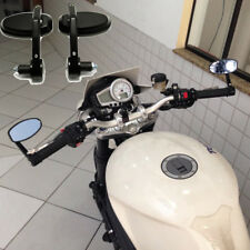 """Motorcycle 7/8"""" Handle Bar End Oval Rearview Mirrors For Triumph Street Fighter"""