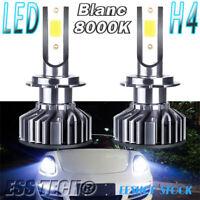 Ampoule LED H4 Blanc 8000K 12-24V taille mini adaptable OBD Canbus ESS TECH® X2