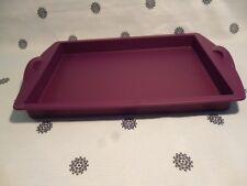 Tupperware Tupperchef Silicon Rectangle Form Baking Tray Purple NEW