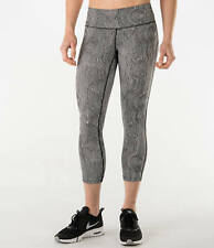 New NIKE Dri-FIT Women Zen Epic Run Crop Running Tights Blk/Wht 719811 $85 Sz XL
