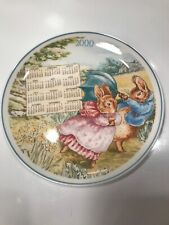 THE WORLD OF PETER RABBIT WEDGWOOD YEAR 2000 CALENDAR PLATE  8''