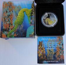 2010 Australia Australian See Life the Reef Seahorse 1/2oz .999 silver