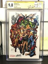The Avengers #1 J Scott Campbell Variant SDCC Stan Lee Edition CGC SS 9.8 Color