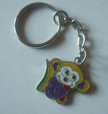1 x Monkey Keyring Enamel Purple 80mm Keychain Crafts Collectables PEKR01