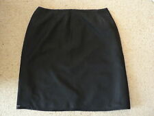 PRE LOVED INNOVARE WOMAN SIZE 18 100% SILK BLACK STRAIGHT SKIRT AUSTRALIAN MADE