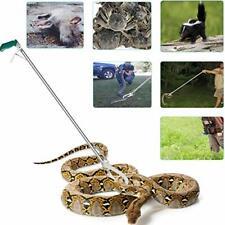 "New listing Gyorgkshi 52"" Extra Long Snake Tongs Reptile Grabber Catcher, Stainless Steel"