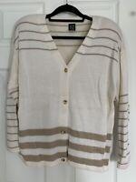 Dana Scott Vintage Women\u2019s Argyle Cardigan Sweater Size Large